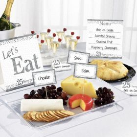 Sparkling Silver Anniversary Buffet Kit, pk12