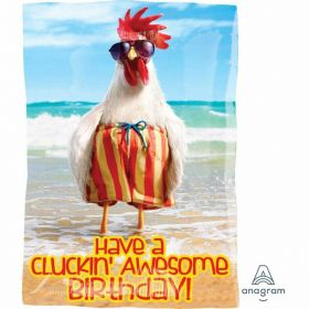 Avanti Clucki' Awesome Birthday Junior Shape Foil Balloon