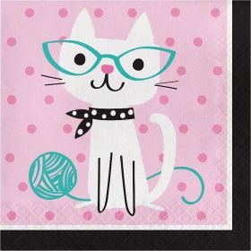 Purr-fect Party Lunch Napkins, pk16