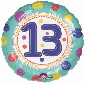 SpotOn 13th Happy Birthday Standard Foil Balloons