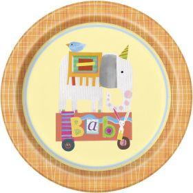 """8 Circus Animal 9"""" Plates"""