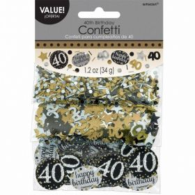 Gold Sparkling Celebration 40th Confetti 34g