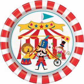 "8 Circus Carnival 7"" Plates"