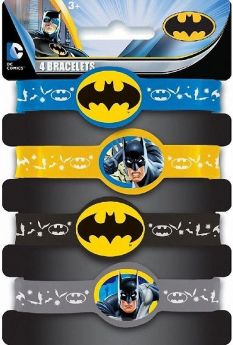Batman Stretch Bracelet, pk4
