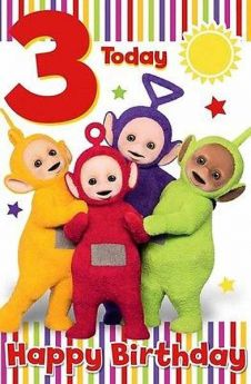 Teletubbies Birthday Card Age 3
