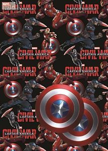 Captain America Gift Wrap & Tags