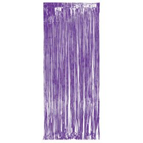 Purple Foil Door Curtain
