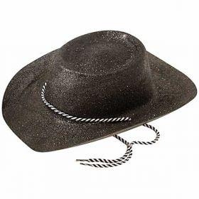 Black Glitter Cowboy Hat