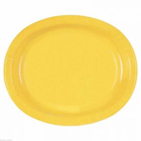 Sunflower Yellow Oval Plates pk8