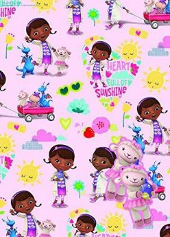 Doc Mcstuffins Party Gift Wrap 2 sheets 2 tags