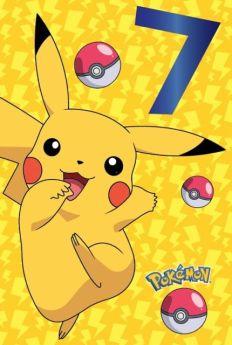 Pokemon Age 7 Birthday Card