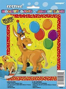 Deluxe Pin the Tail on the Donkey Game
