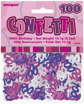Pink Glitz 100th Birthday Confetti - 5oz