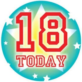 18 Today Jumbo Badge