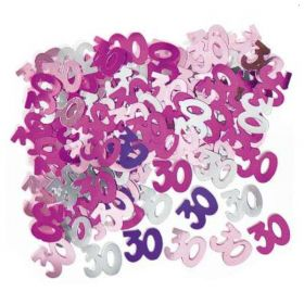 Pink Glitz 30 Party Confetti