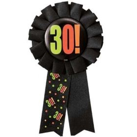 Birthday Award Ribbon - Age 30