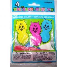 Animal Party Balloons 4pk