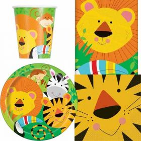 Animal Jungle Party Tableware Pack for 8