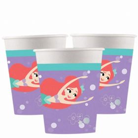 Ariel Under The Sea Paper Cups 200ml, pk8