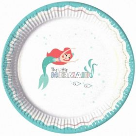 Ariel Under The Sea Paper Plates 23cm, pk8