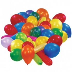25 Assorted Colours & Shapes Latex Balloons