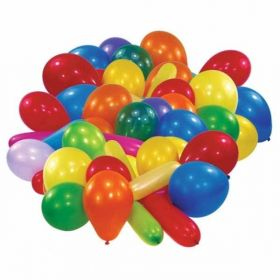 Value Assorted Party Balloons, 50pk