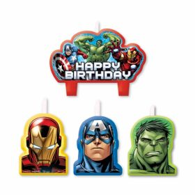 Avengers Party Candle Set pk4