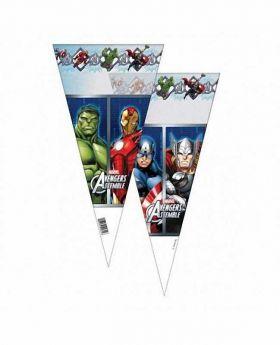 Avengers Cone Cello Bags pk6