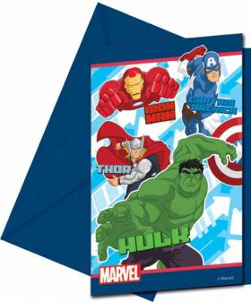 Avengers Assemble Party Invitations pk6
