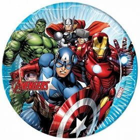 Mighty Avengers Plates 23cms pk8