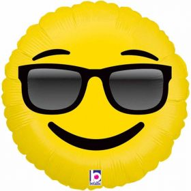 Emoji Sunglasses Foil Balloon 18''