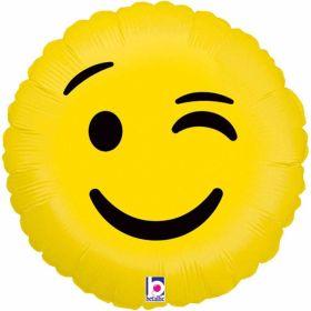 Emoji Wink Foil Balloon 18''