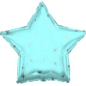 Powder Blue Sparkle Star Foil Balloon