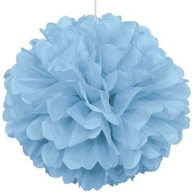 Powder Blue Paper Puff Ball Party Decoration 40cm