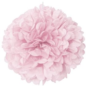 Lovely Pink Paper Puff Ball Party Decoration 40cm