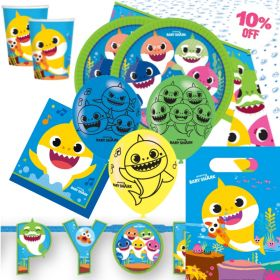 Baby Shark Party Deluxe Pack for 16