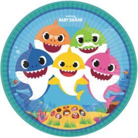 Baby Shark Party Plates 23cm, pk8