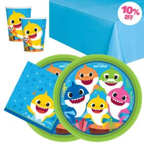 Baby Shark Party Tableware Pack