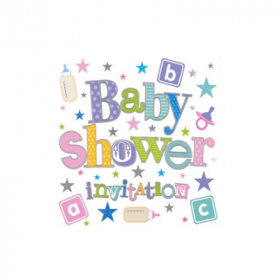 Baby Shower Invitations, pk6