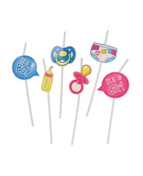 Baby Shower Straws, pk12