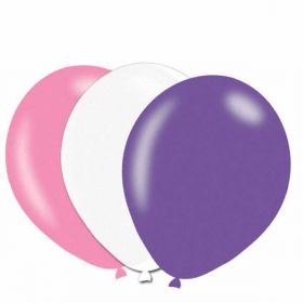Pink/Lilac/White Pearlised Latex Balloons pk10