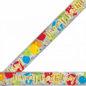 Glitzy Gold Birthday Banner