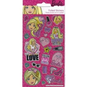 Barbie Foil Stickers