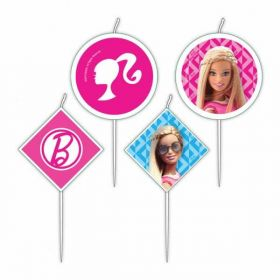 Barbie Sparkle Mini Characters Pick Candles, pk4