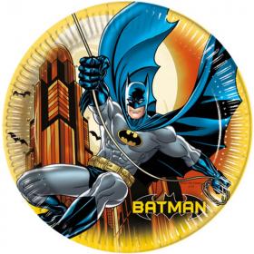 Batman Dark Hero Plates 22cm, pk8