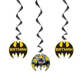 Batman Party Hanging Swirls 66cm, pk3