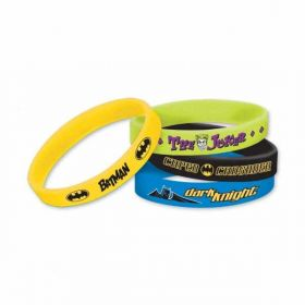 Batman Rubber Bracelets pk6