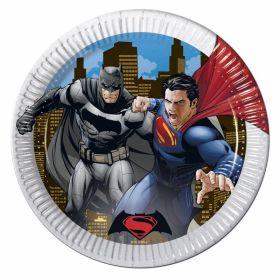 Batman vs Superman Plates pk8
