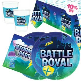 Battle Royal Party Tableware Pack for 16
