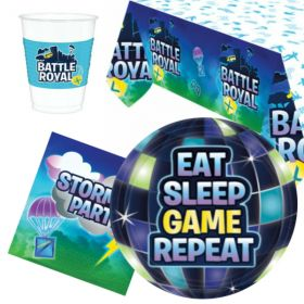 Battle Royal Party Tableware Pack for 8